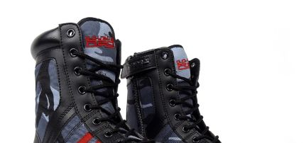 Bakancs Black Camo Red Desert