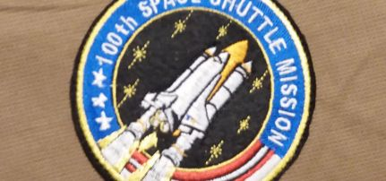 Nasa space shuttle felvarró