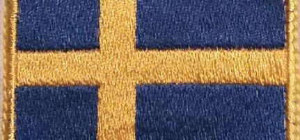 Svéd Zászló felvarró