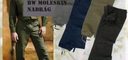 Bundeswehr Moleskin Nadrág