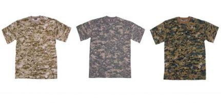 Digitál mintás pólók